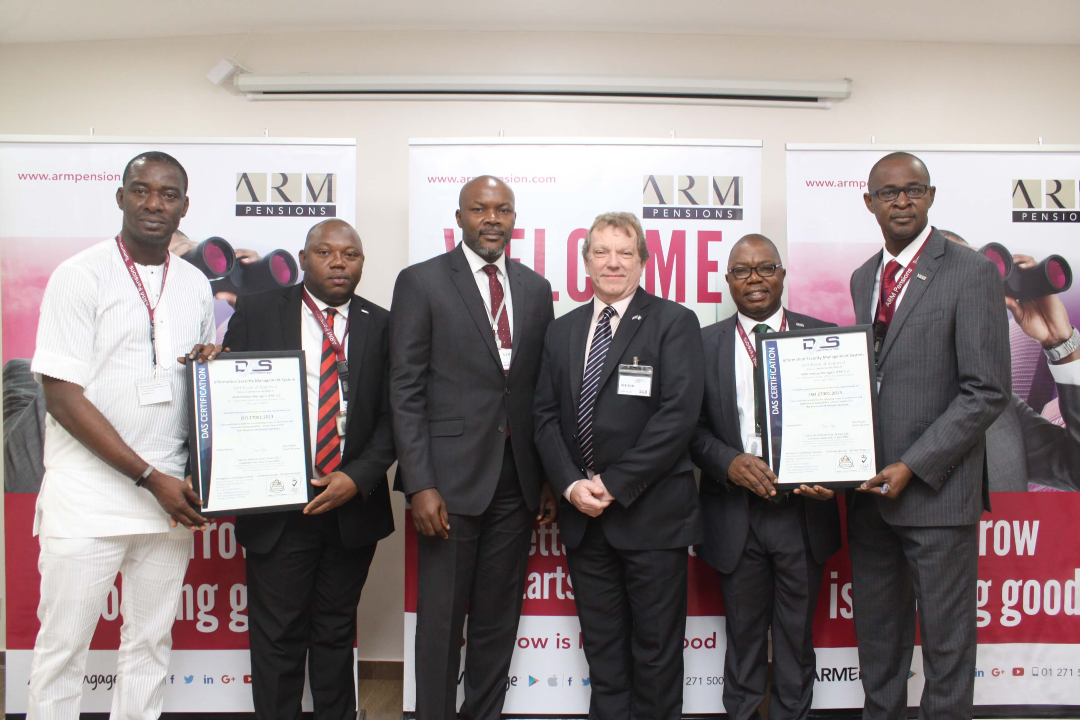 Arm Pension Managers Receives Iso 270012013 Certification Arm